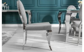 2 x Chaise Design ROCCO GREY II