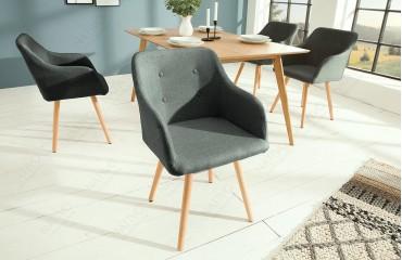2 x Chaise Design SQUARE DARK