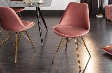 2 x Chaise Design SCANIA RETRO ROSE-GOLD