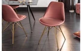 2 x Designer Stuhl SCANIA RETRO ROSE-GOLD