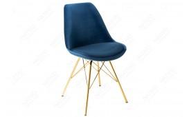 2 x Sedia di design SCANIA RETRO BLUE-GOLD