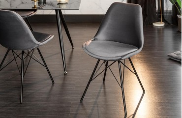 2 x Designer Stuhl SCANIA RETRO SILVER-GREY-NATIVO™ Möbel Schweiz