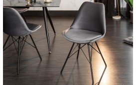 2 x Designer Stuhl SCANIA RETRO SILVER-GREY