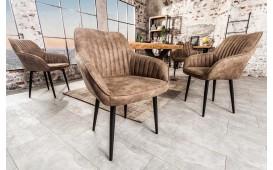 2 x Chaise Design PIEMONT BROWN