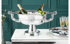 Designer Champagner-Kühler CAMPANIE SILBER S