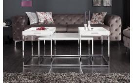 Table basse Design UNITY WHITE SET 3