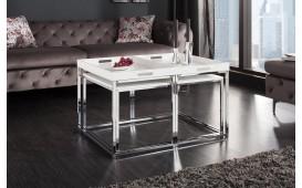 Tavolino di design UNITY WHITE SET 3