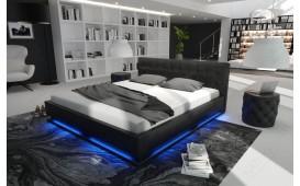 Lit tapissé SYNTEX avec éclairage by ©iconX STUDIOS