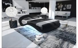 Lit tapissé VOYAGER avec éclairage by ©iconX STUDIOS