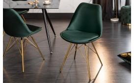 2 x Sedia di design SCANIA RETRO GREEN-GOLD