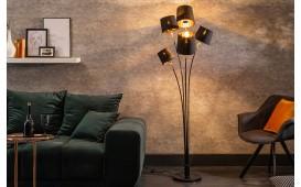 Designer Stehleuchte LEVELTY BLACK-GOLD 178 cm