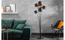 Lampadaire design LEVELTY BLACK-GOLD 178 cm