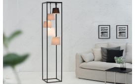 Lampadaire design LEVELTY BLACK-GREY