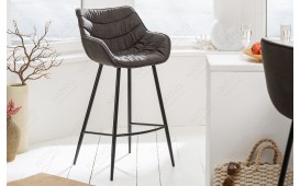 Tabouret de bar WADE GREY
