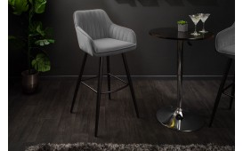 2 x Tabouret de bar PIEMONT GREY