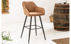 2 x Tabouret de bar PIEMONT BROWN