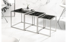 Tavolino d'appoggio di design UNITY GLASS BLACK 3-NATIVO™ Möbel Schweiz