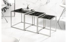 Designer Beistelltisch UNITY GLASS BLACK 3