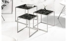 Designer Beistelltisch UNITY GLASS BLACK 3-NATIVO™ Möbel Schweiz