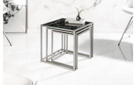 Tavolino d'appoggio di design UNITY GLASS BLACK 3-NATIVO™ Möbel Schweiz