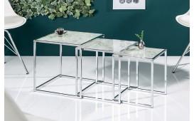 Designer Beistelltisch UNITY GLASS WHITE 3