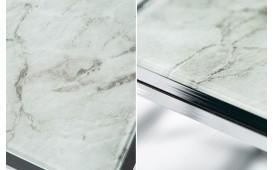 Designer Beistelltisch UNITY GLASS WHITE 3-