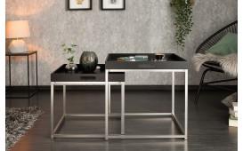 Tavolino d'appoggio di design UNITY BLACK SET 2