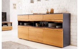 Designer Sideboard WOOD GREY 180 cm