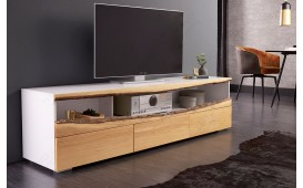 Designer Lowboard WOOD WHITE 180 cm