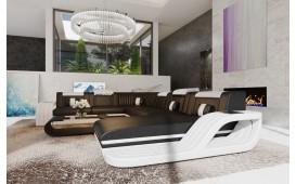 Canapé Design ROYAL XXL avec éclairage LED & un port USB