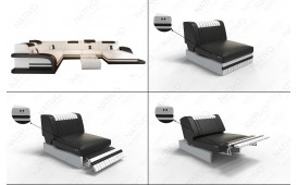 Canapé Design ROYAL CORNER avec éclairage LED et port USB-NATIVO™ Möbel Schweiz