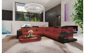 Designer Sofa ROYAL CORNER mit LED Beleuchtung & USB Anschluss