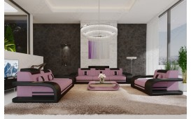 Designer Sofa ROYAL 3+2+1 mit LED Beleuchtung & USB Anschluss