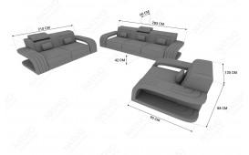 Canapé Design 2 places ROYAL avec éclairage LED et port USB