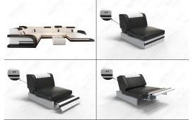 Fauteuil Design ROYAL avec éclairage LED et port USB
