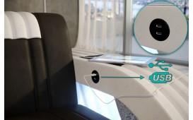 Poltrona di design ROYAL con illuminazione a LED e presa USB