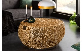 Designer Couchtisch POCAHONTAS GOLD HANDLE 80 cm