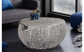 Table basse Design POCAHONTAS HANDLE SILVER 80 cm