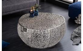 Designer Couchtisch POCAHONTAS HANDLE SILVER 80 cm-NATIVO™ Möbel Schweiz