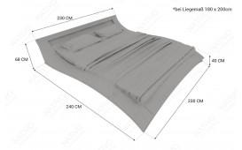 Letto di design PIONEER mit Beleuchtung-NATIVO™ Möbel Schweiz