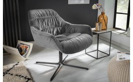 Designer Lounge Sessel SOLACE GREY