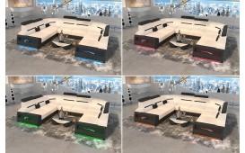 Canapé Design AVATAR CORNER U FORM avec éclairage LED & port USB-NATIVO™ Möbel Schweiz