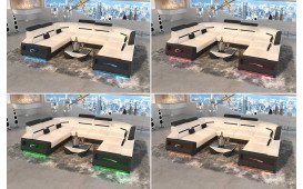 Designer Sofa AVATAR CORNER U FORM mit LED Beleuchtung & USB Anschluss-NATIVO™ Möbel Schweiz