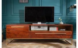 Designer Lowboard FLAT  GOLD 165 cm