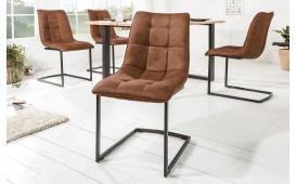 2 x Chaise Design FLORIDA BROWN