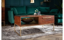Tavolino di design FLAT GOLD 110 cm-NATIVO™ Möbel Schweiz