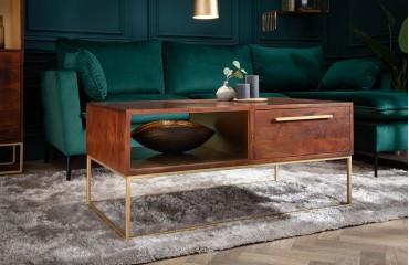 Table basse Design FLAT GOLD 110 cm-NATIVO™ Möbel Schweiz