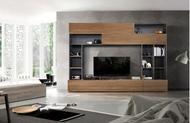 Designer Wohnwand NIORT-NATIVO™ Möbel Schweiz