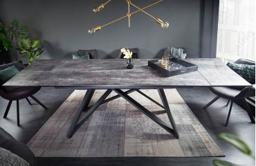 Table Design SALTA LAVA 180-220-260 cm-NATIVO™ Möbel Schweiz