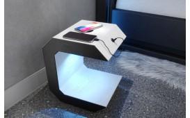 Nachttisch LUNA mit USB Anschluss & drahtloses Ladegerät